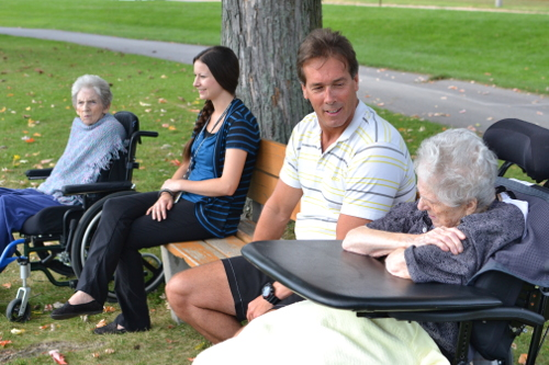 LTC Residents enjoying the park.